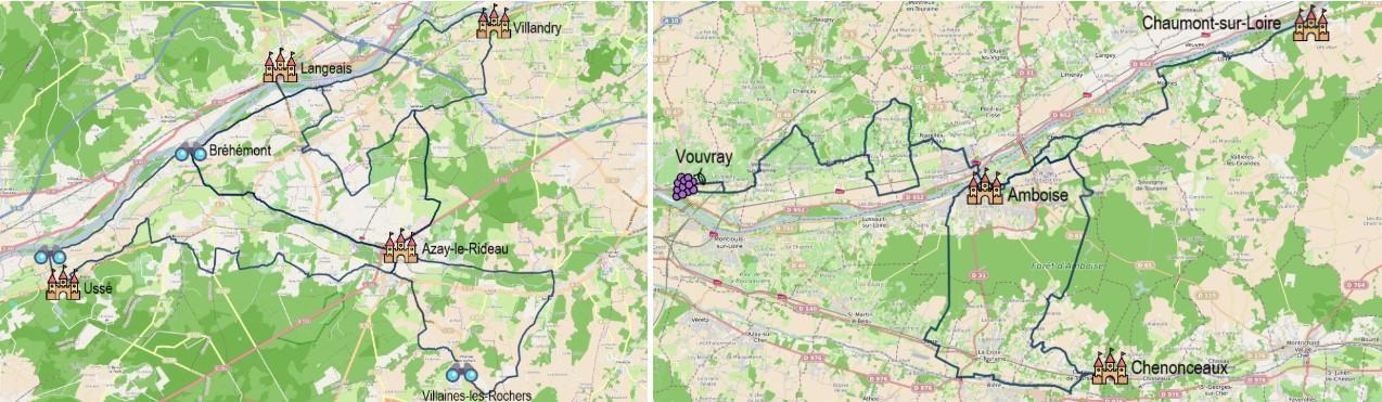 Une semaine de vacances à vélo en Touraine