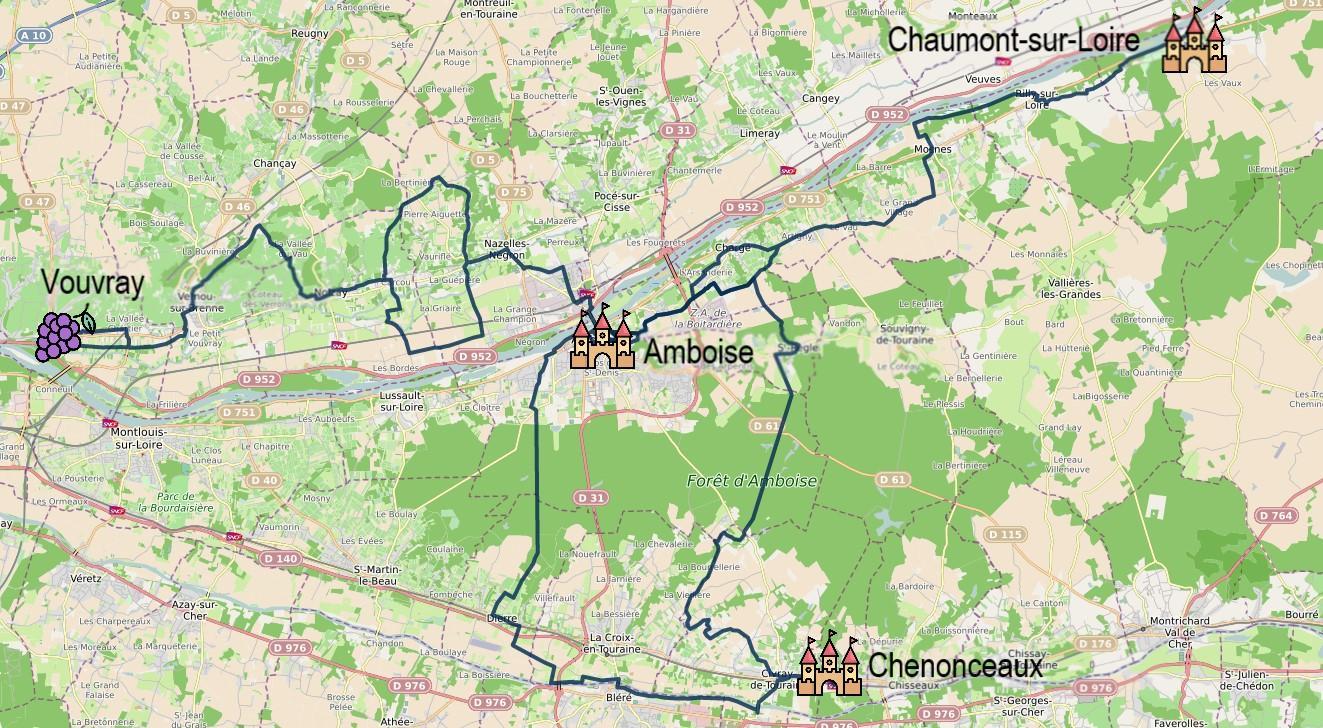 Découverte à vélo de la Touraine