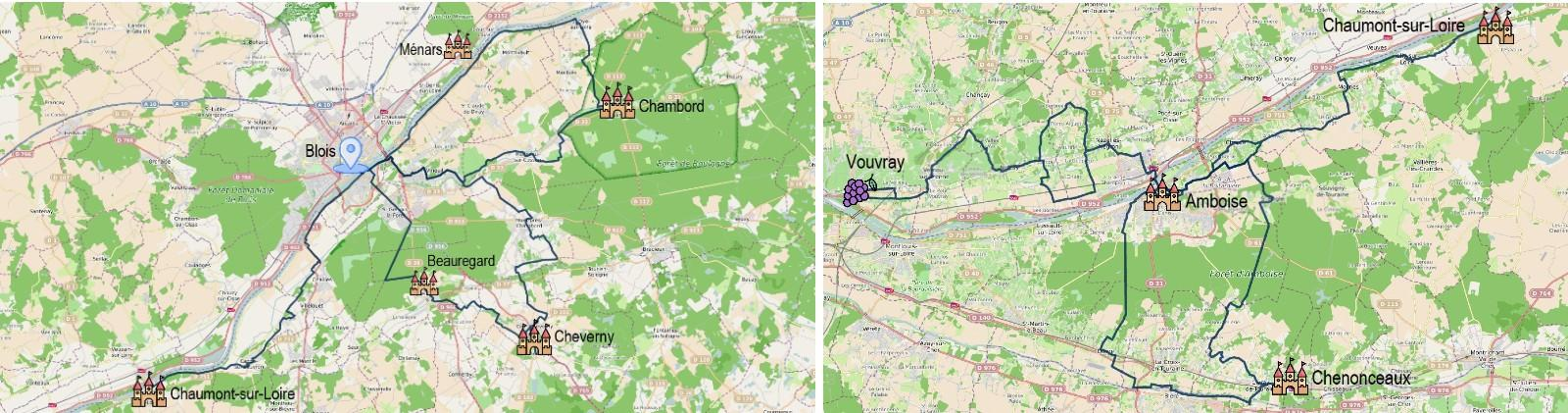 8 jours au pays des châteaux à vélo entre Chambord et Chenonceau