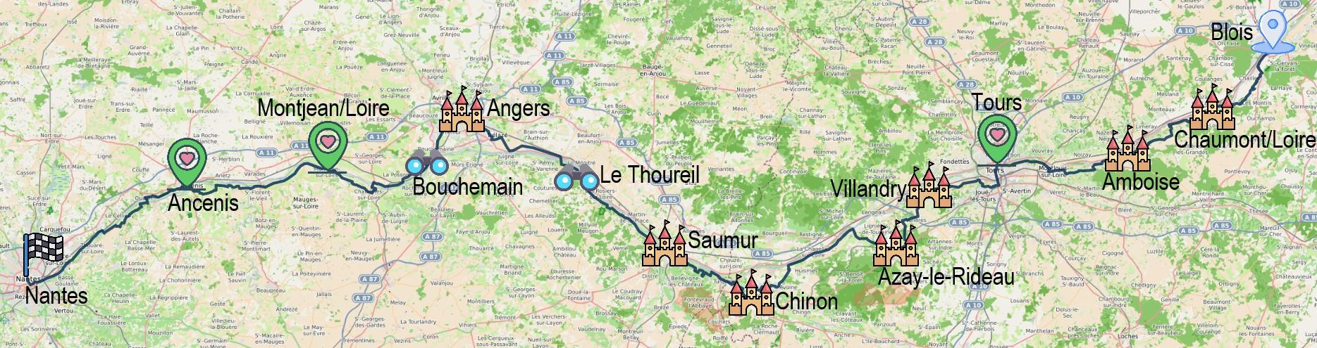 8 jours entre Blois et Nantes