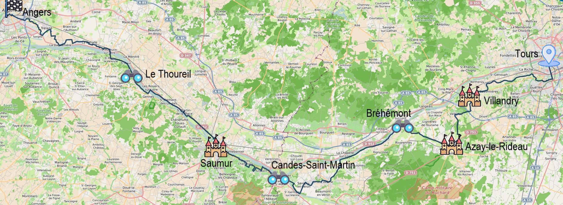 4 jours entre Tours et Angers