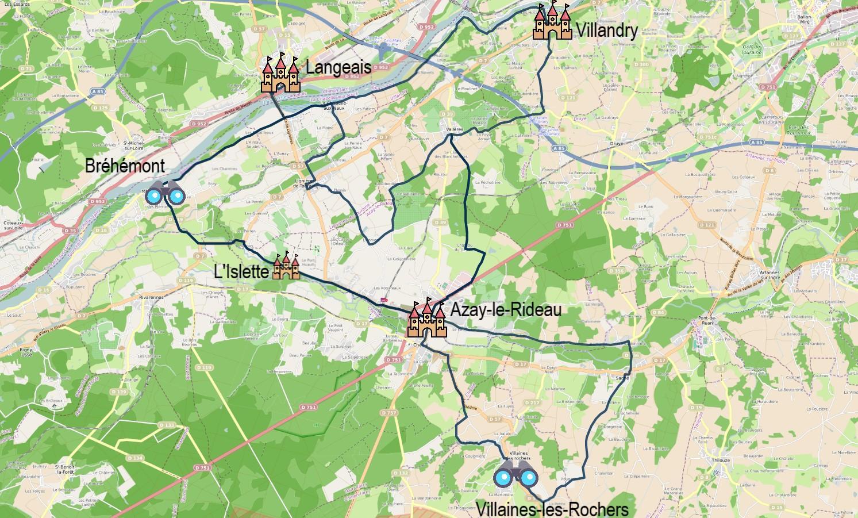 Echappée à vélo Azay-le-Rideau - Villandry - Langeais